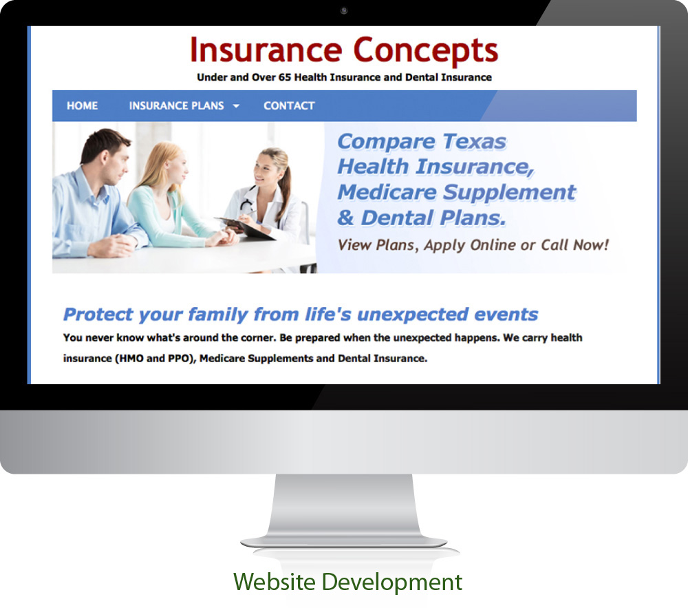 Insurance Website Design Sugar Land Texas 77478