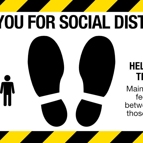 Social Distancing Sign Indoor And Outdoor Floor Decal
